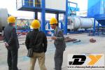 South African customer visited our asphalt plant factory and asphalt plant
